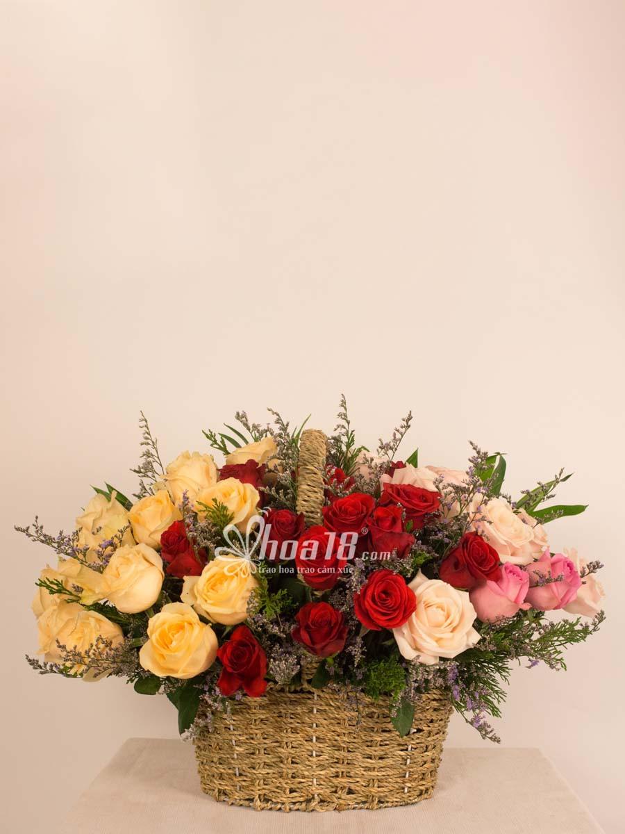giỏ hoa đẹp nhất