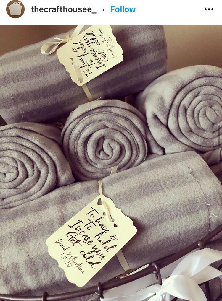 blanket for wedding favor ideas
