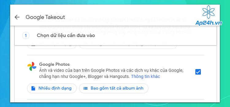 Di chuyển video từ Google Photos sang iCloud