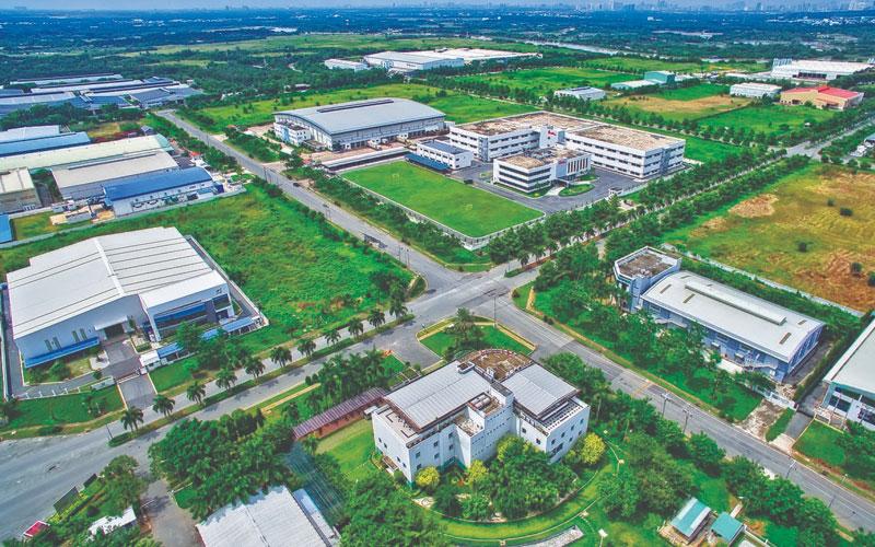 Khu công nghiệp Long Hậu với góc nhìn từ trên cao