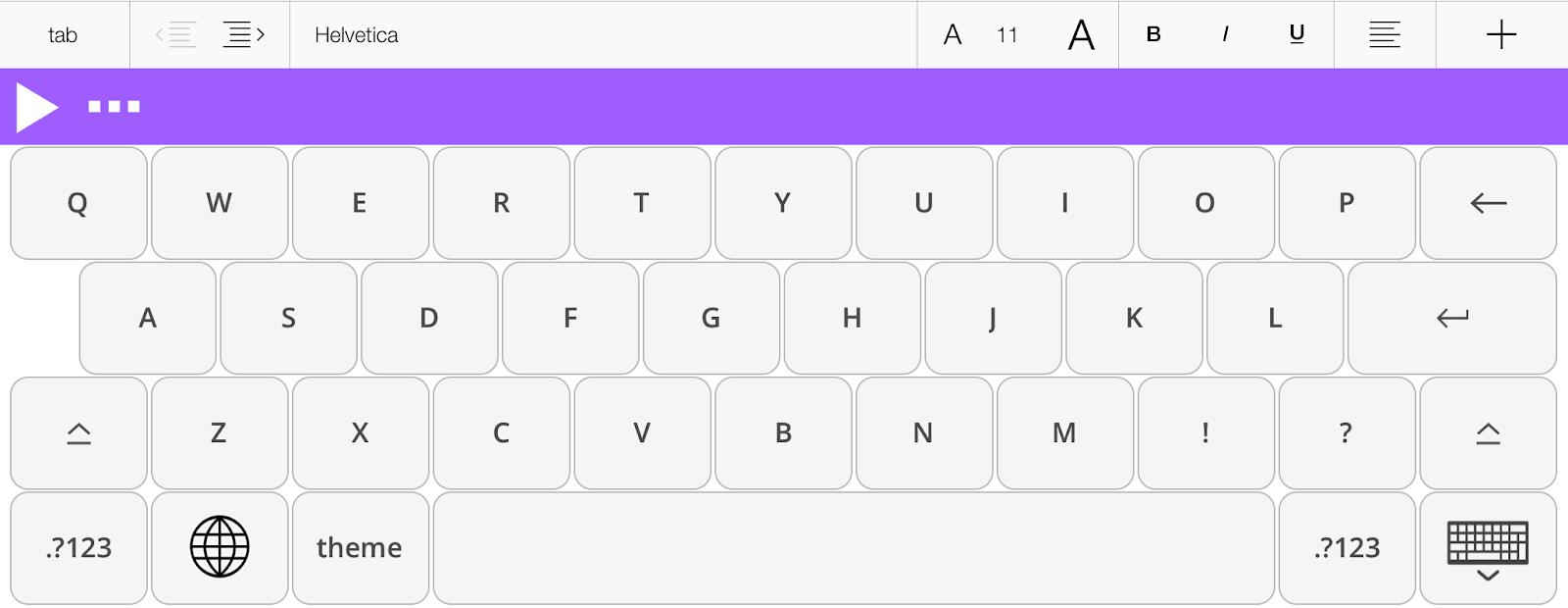 Read&Write for iPad keyboard