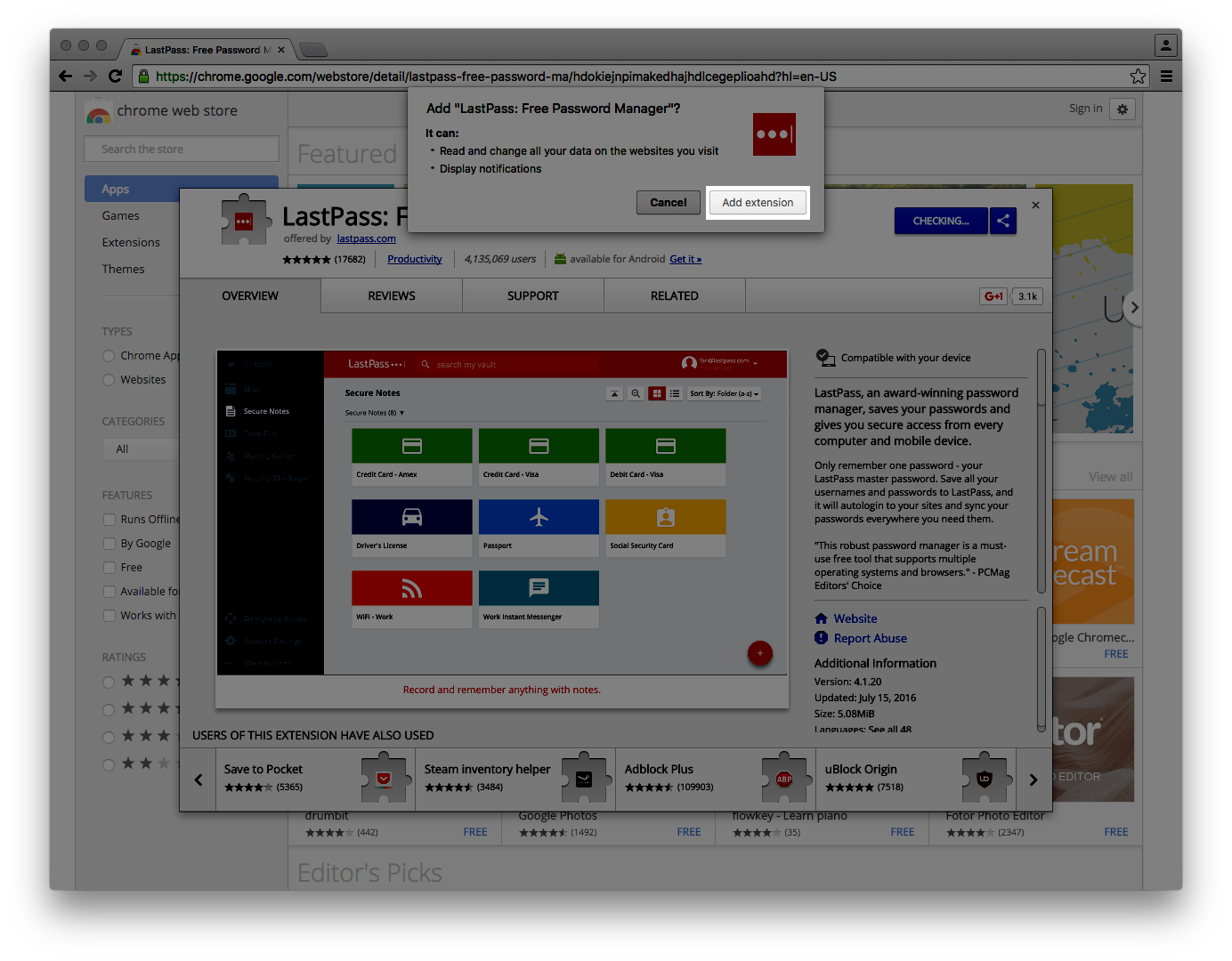 Installing the LastPass Web Browser Tool   Information Security