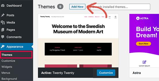 Chỉnh sửa giao diện website WordPress