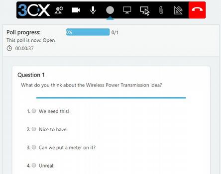 Encuestas en WebMeeting