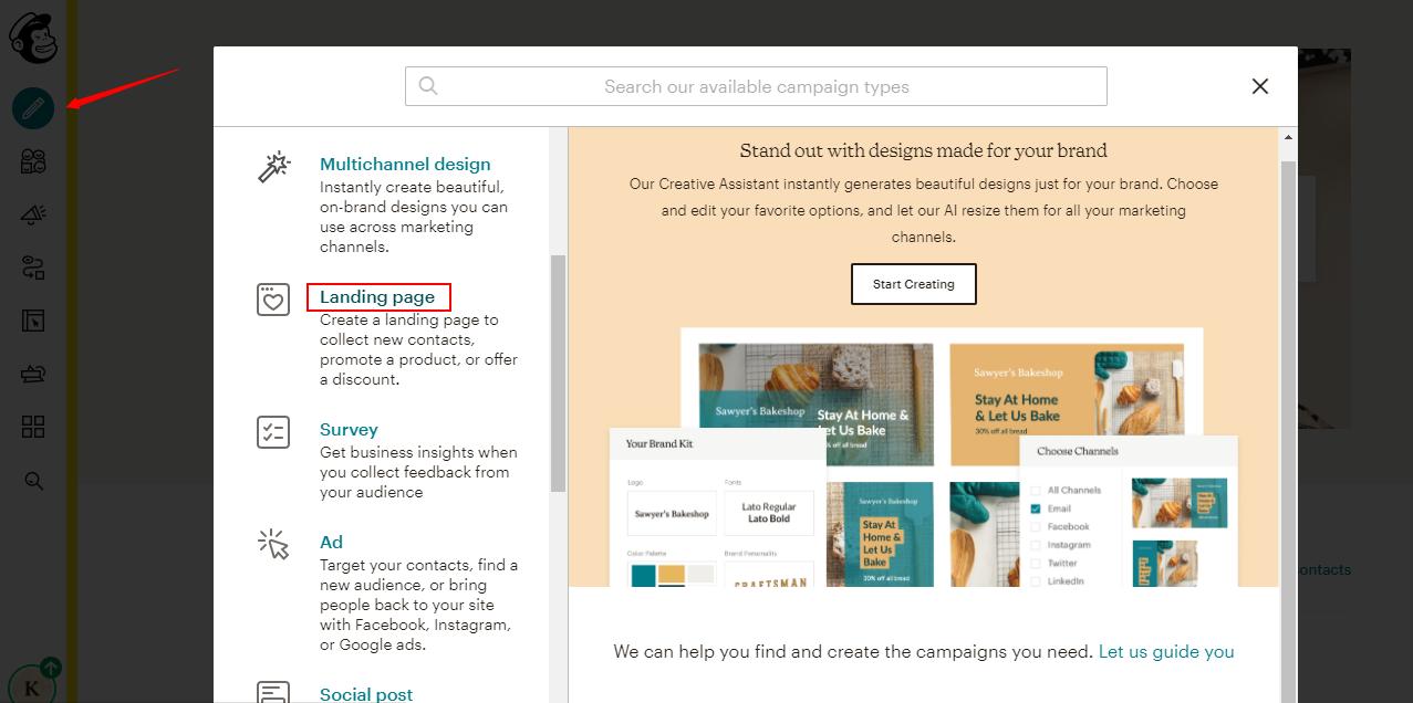 Mailchimp Vs OLITT Landing page
