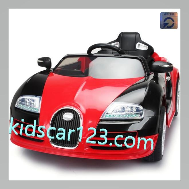 Xe ô tô BUGATTI có ghế mát xa JE1188 màu đỏ