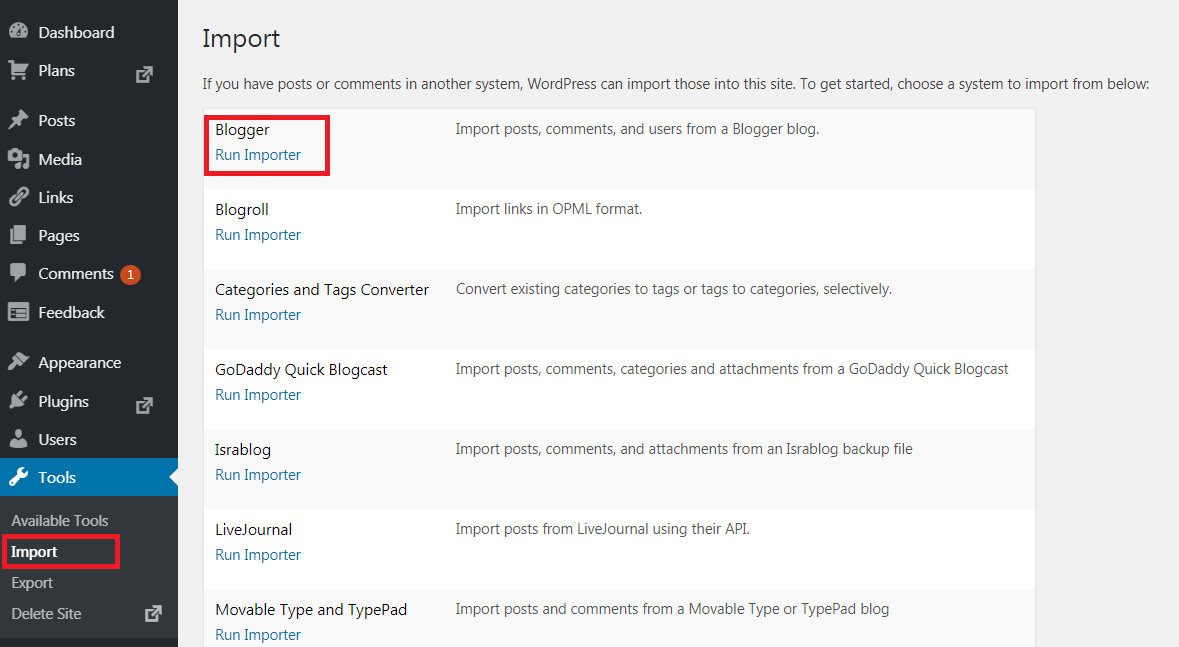 How to migrate content from Blogger to WordPress