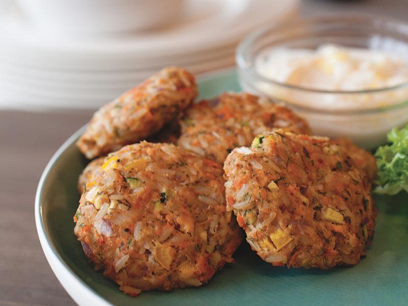 Recettes DME : Croquette de riz et saumon