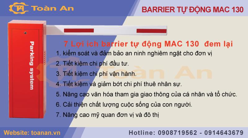 7 lợi ích barrier tự động mac 130 đem lại.