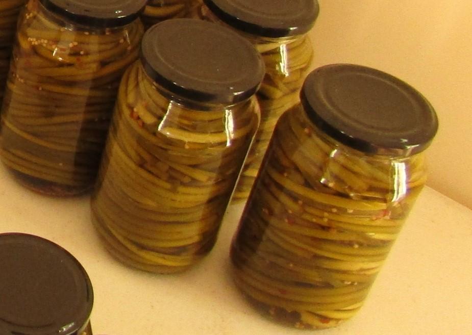 Hampes florales en pickles
