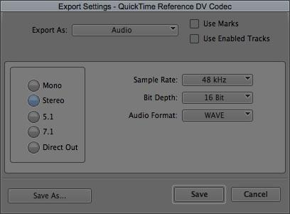 7 1 Exporting your Avid sequence for DaVinci Resolve