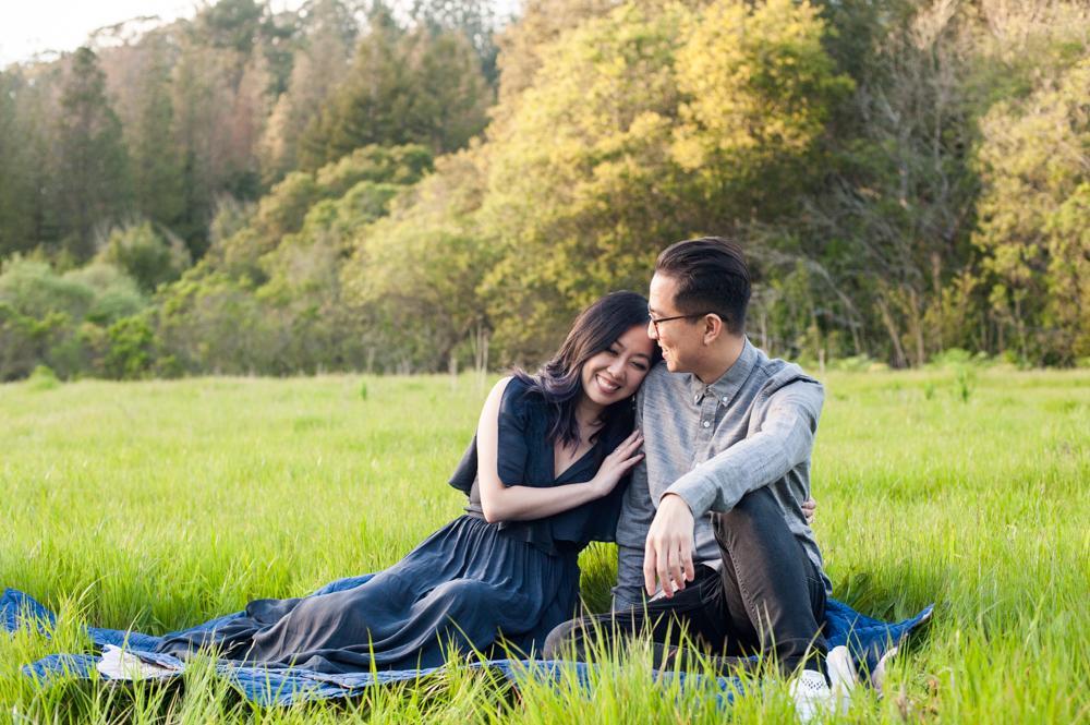 Engagement session in Tilden Park - e&b photography