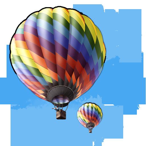 иконка balloon, воздушный шар, аэростат,