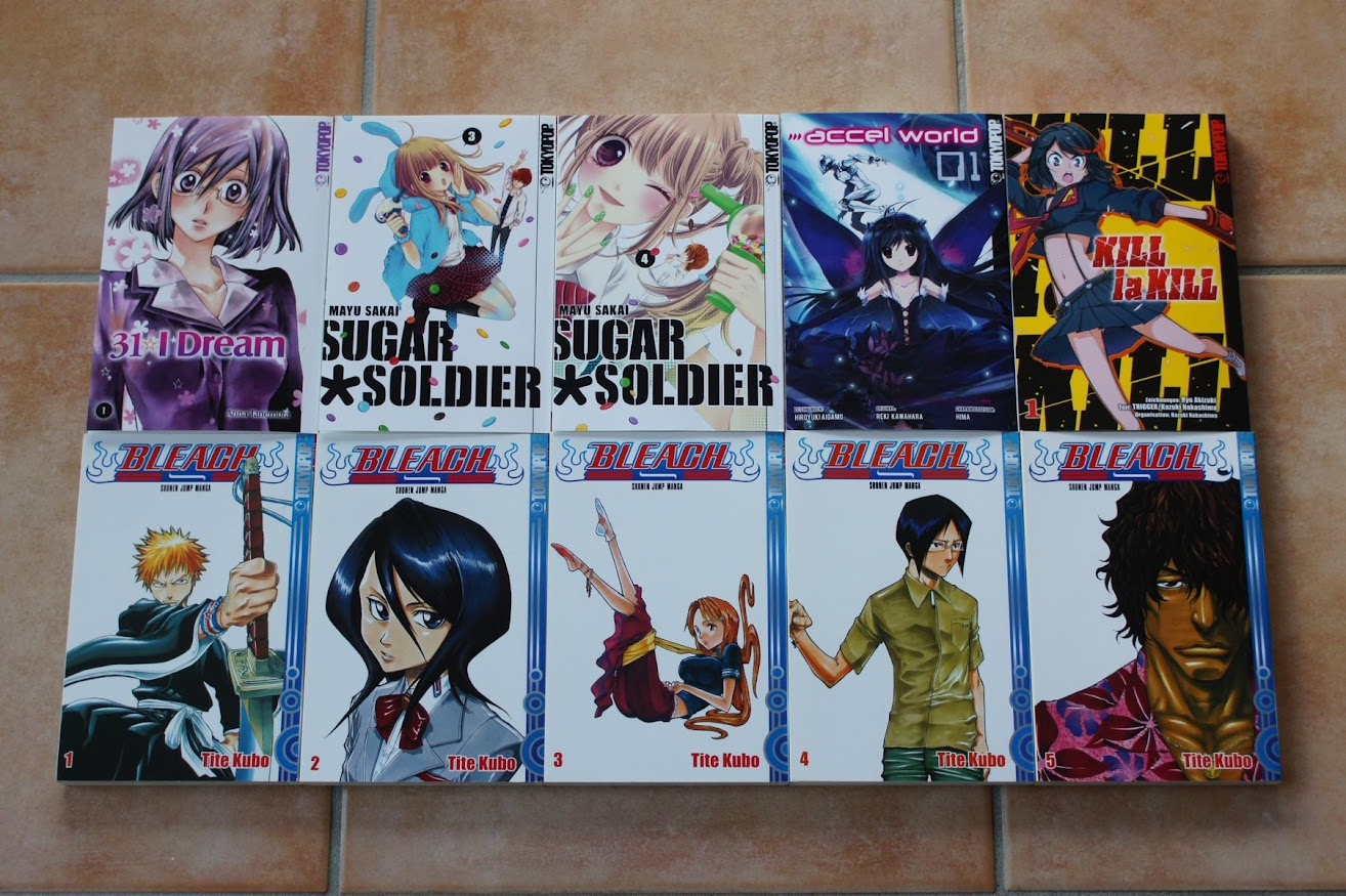Tokyopop Manga 31 I Dream 1 Sugar Soldier 3 4 Accel World 1 Kill la Kill 1 Bleach 1 2 3 4 5