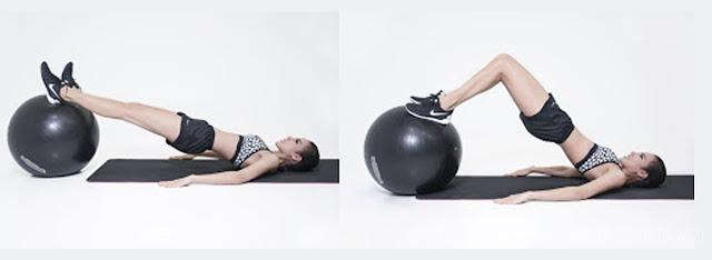 Tập thể dục giảm cân với bóng
