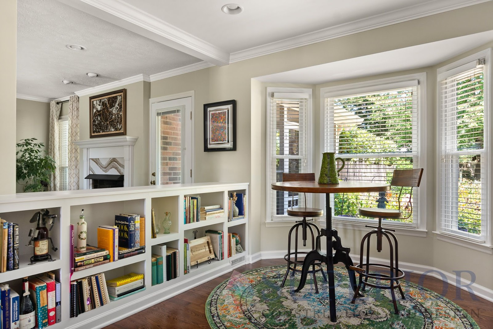 kitchen nook for home office built in shelving for library books window mt juliet tn superior constructions and design