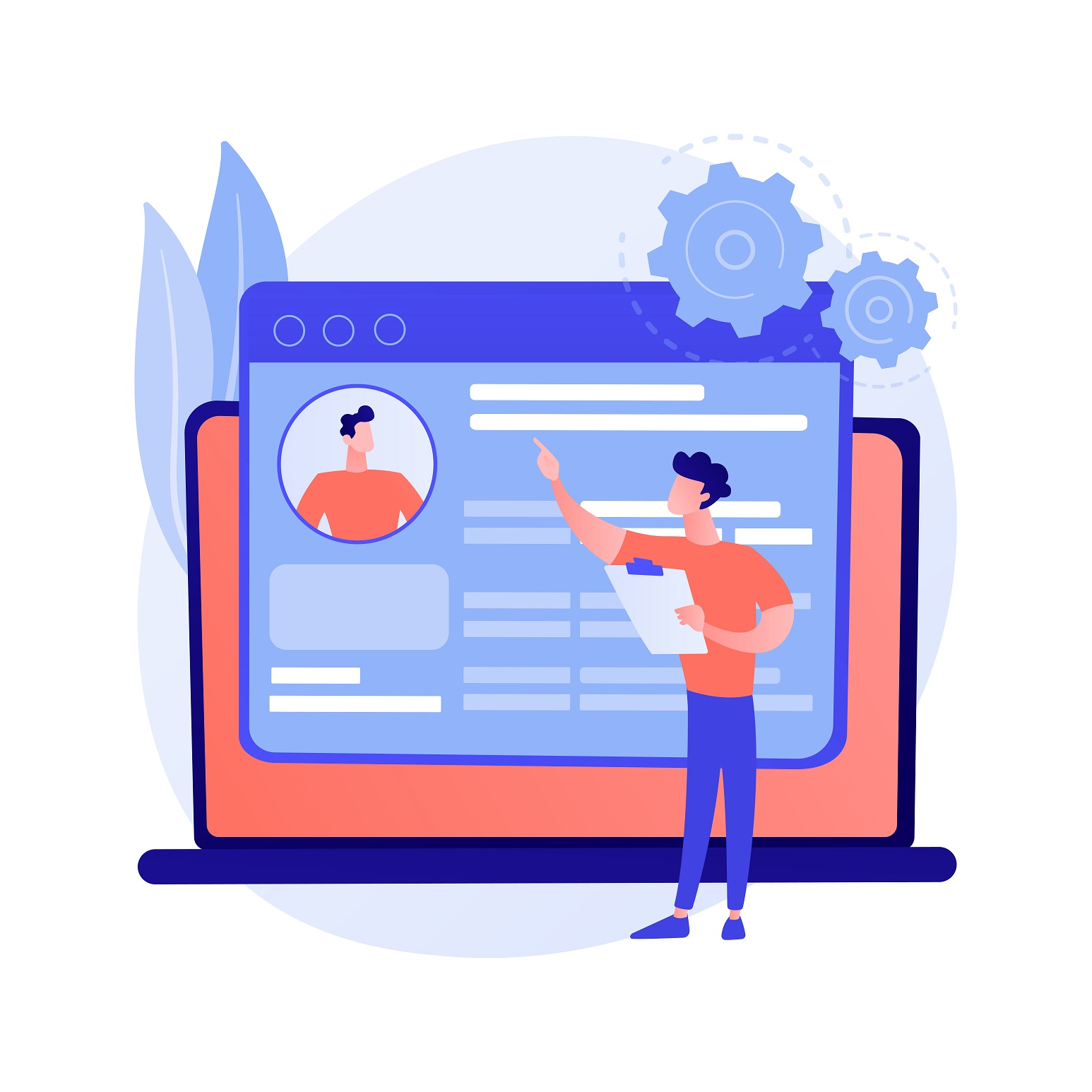 Landing Page Vector Illustration created by vectorjuice
