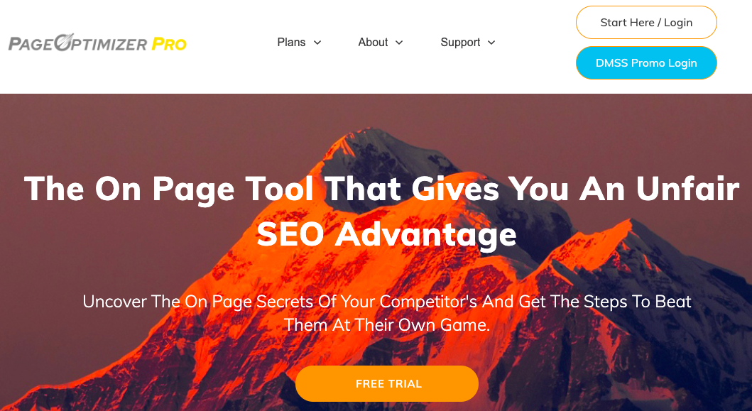 on-page SEO tool - page optimizer pro