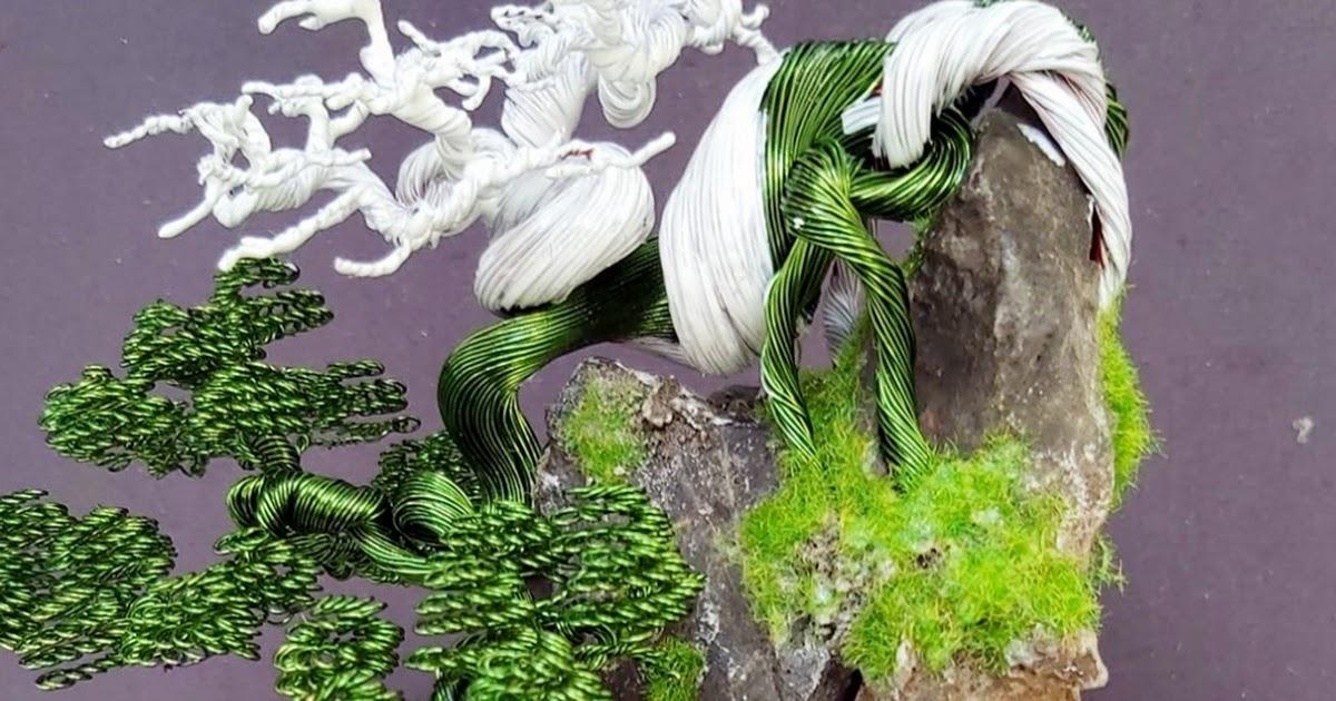 Độc đáo bonsai làm từ... dây đồng