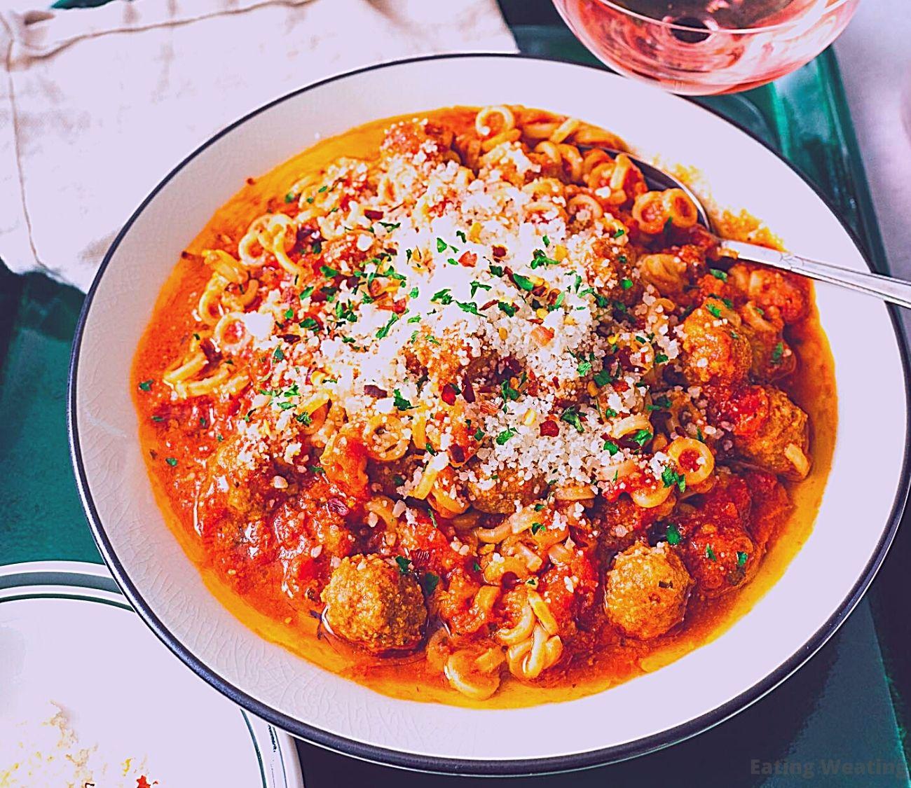 Spaghetti with Mini Meatballs