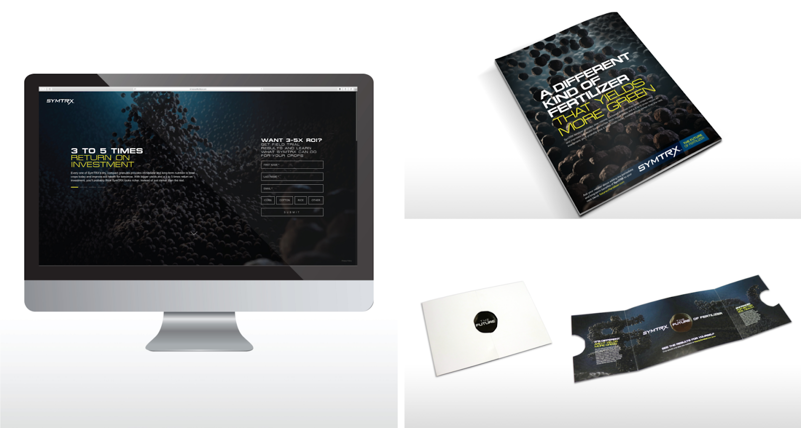 Digital and print pieces from SymTRX campaign