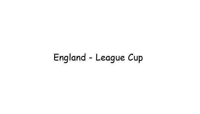 England - League Cup