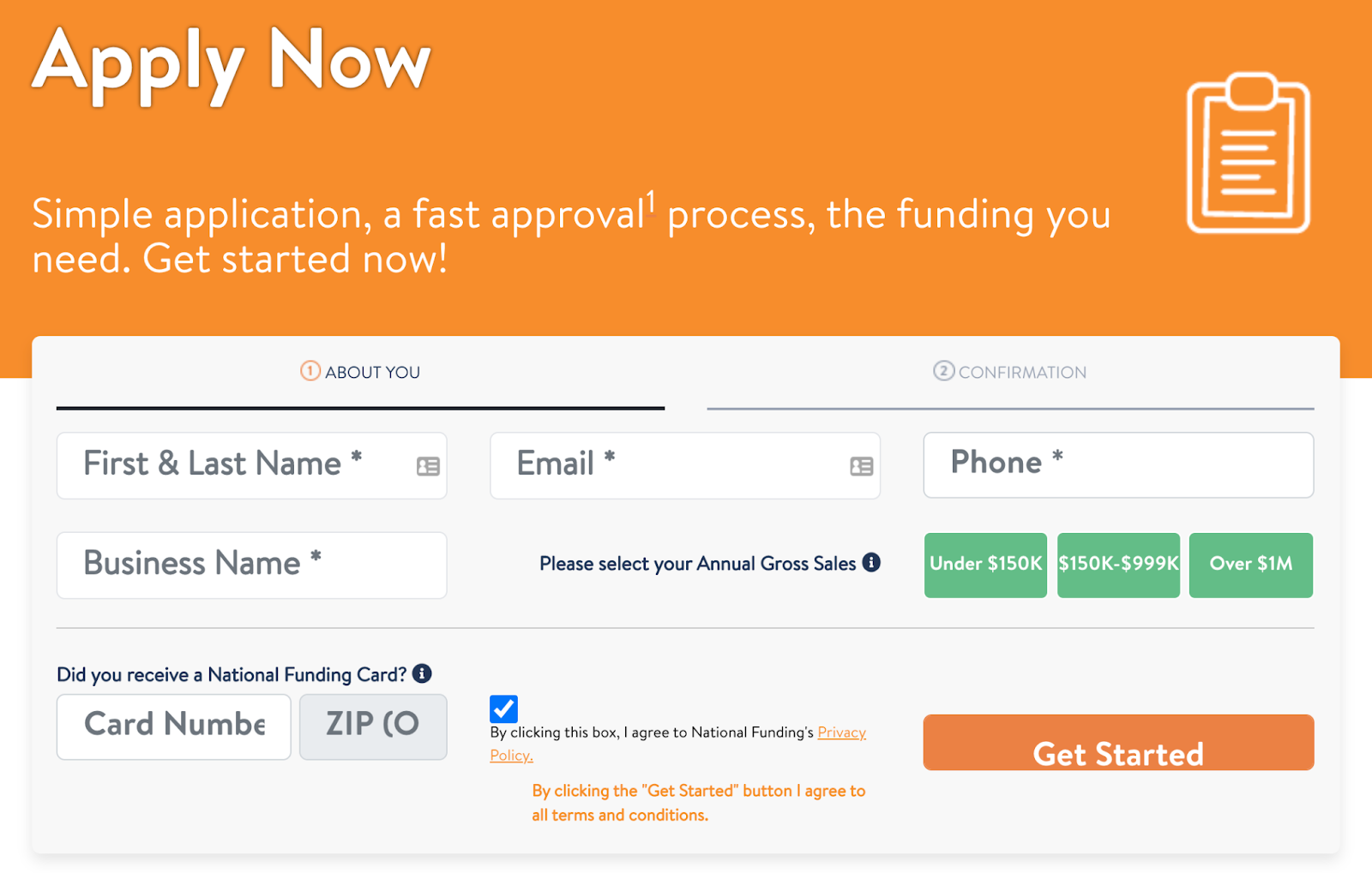 Apply for a national funding loan