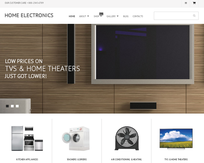 Home Electronics WooCommerce theme