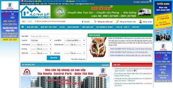 trang web đăng tin cho thuê cửa hàng