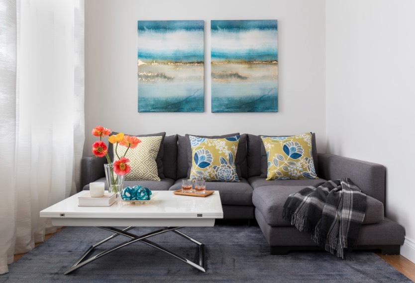 5 ý tưởng phòng khách vui tươi với ghế sofa góc