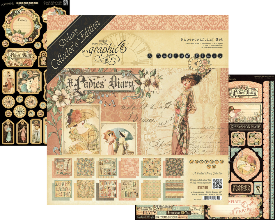 A Ladies' Diary, Deluxe Collector's Editions, Graphic 45, Back in Stock.png