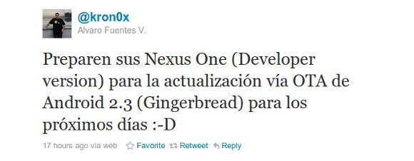lZKc_6zuOyvYTvanmVVcmVSoma8uFKjKEJkhBvUAk2XWoA3k2Roc05GIuklB-xe3VaePqG1ufx6xMb5c40Me3eleo6r1JWYZdkU4cRfHEmIuKzJDrw Android 2.3 Gingerbread für Google Nexus One in dieser Woche erwartet  - schon am 11. November? Google Android Google Nexus S Samsung Smartphones Software Technology