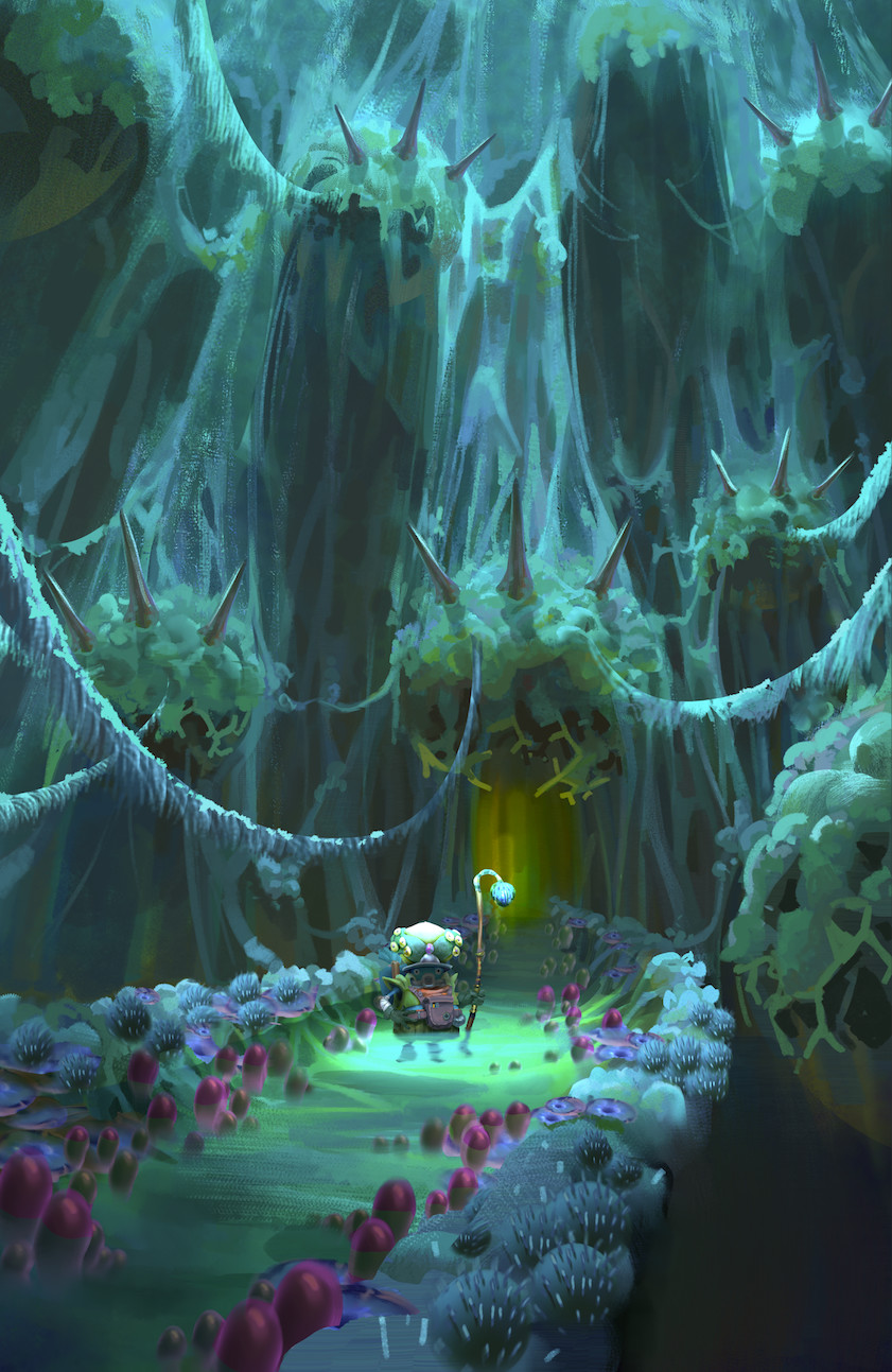 CG Artwork Into the Depths by Tyler Edlin