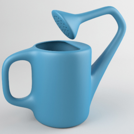 A watering can that is shaped differently.