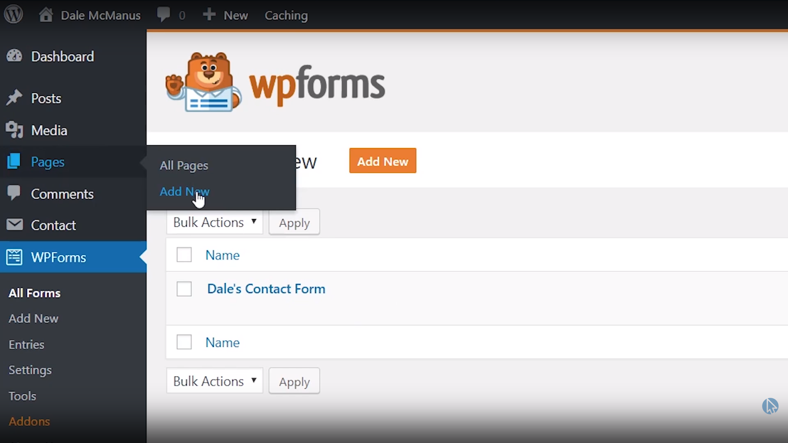 wordpress contact page new