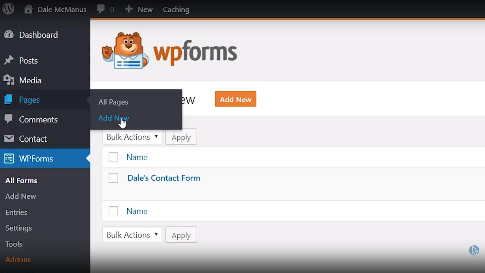 wordpress contact page new