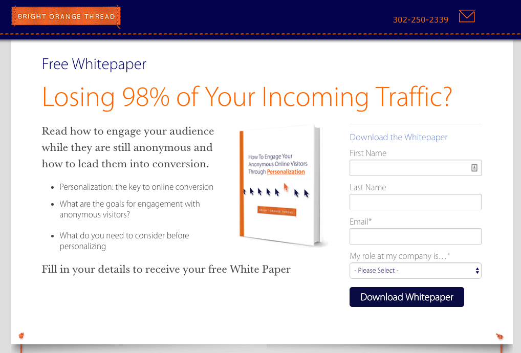 Landing Page Lead Generation Form