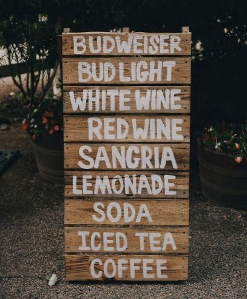 DIY wooden menu sign
