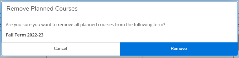 To remove courses from timeline, use this option