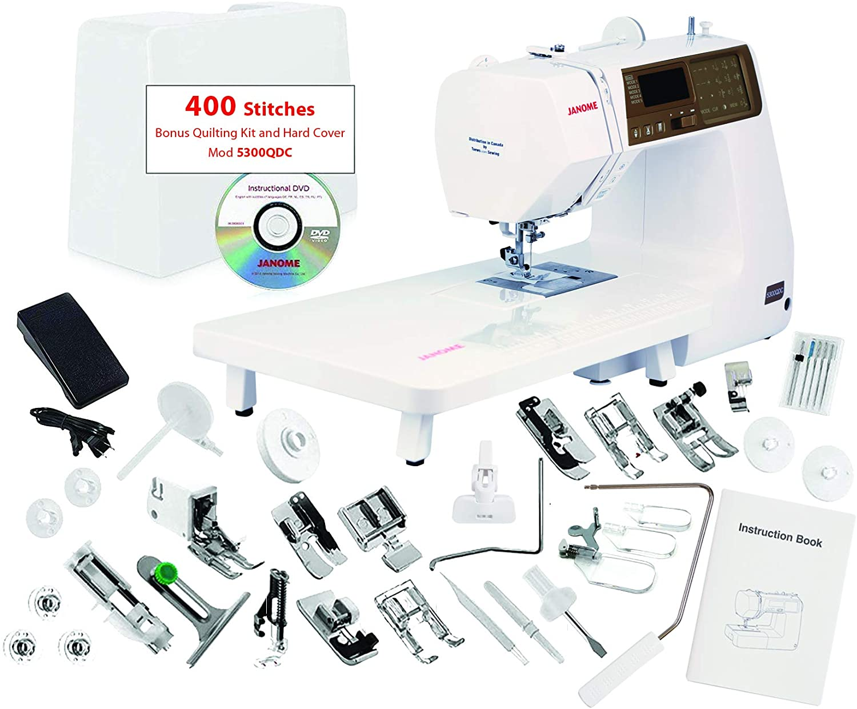 best Heavy Duty Sewing Machine   Janome 5300QDC 400 Stitch Sewing Machine Set