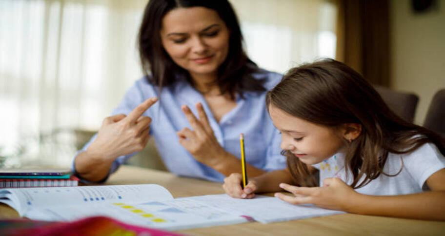 Only patience is the key to help make math homework for kids an easy one