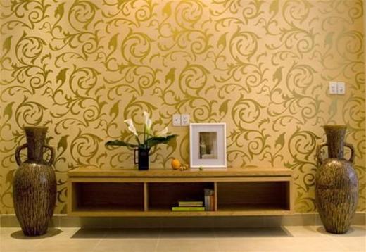 Sơn hoa văn trên tường - bí quyết thay đổi không gian sống độc đáo