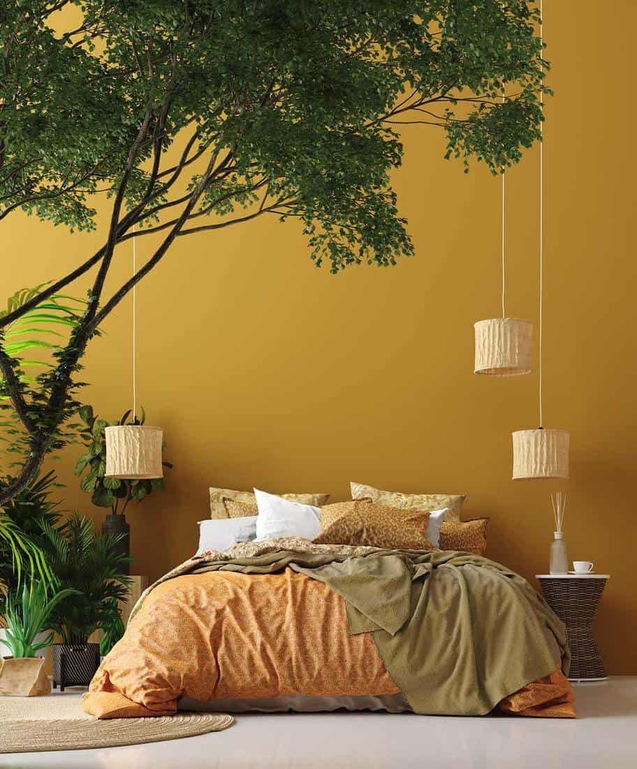 A Large Tree Give Your Bedroom a more Tropical Feel