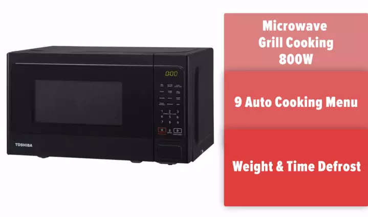 Toshiba 20L Deluxe Series Microwave Oven With Grill. Source: Toshiba