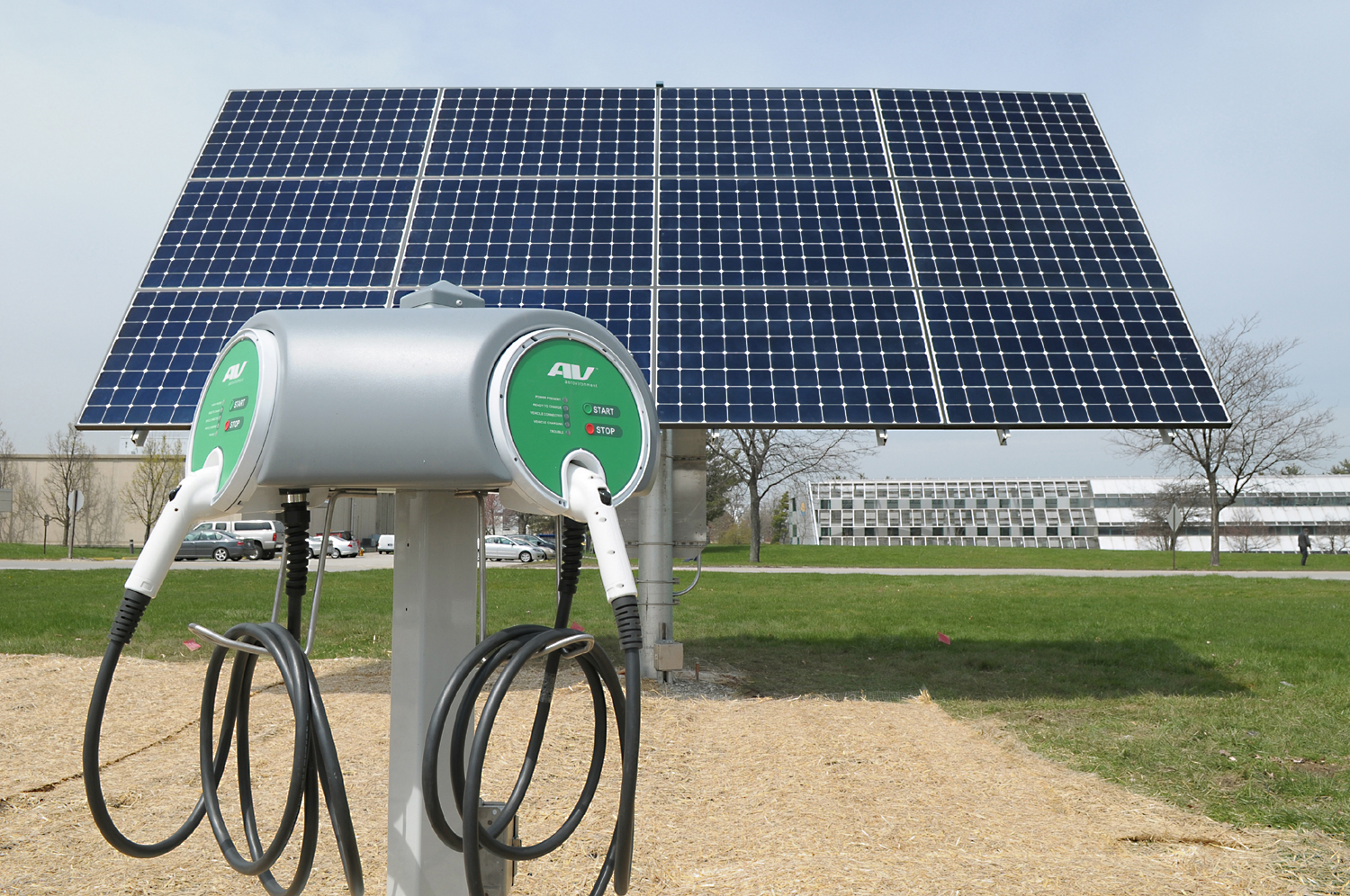 Electric vehicle stations, like those pictured here, are necessary for the clean economy.