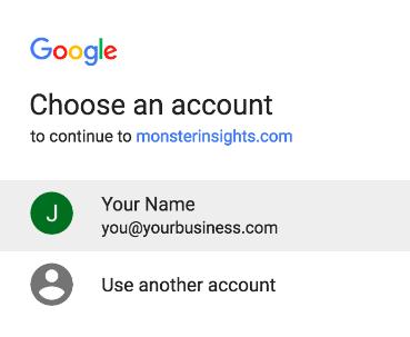 google login page
