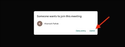 الموافقه على دخول الاجتماع