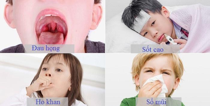 Trẻ bị viêm họng sốt