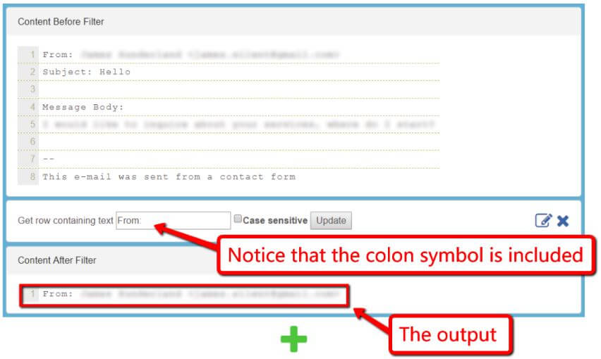 Include Symbols within email text