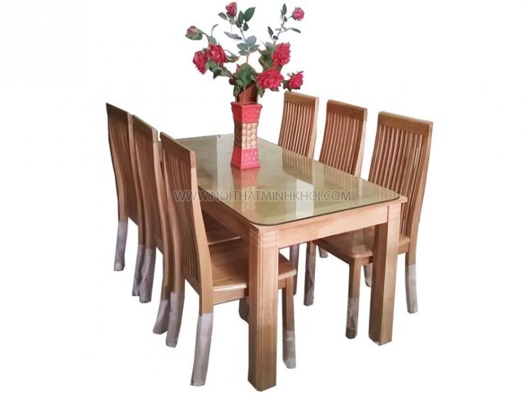Bộ bàn ăn gỗ sồi Mỹ 1m6 6 ghế BA230
